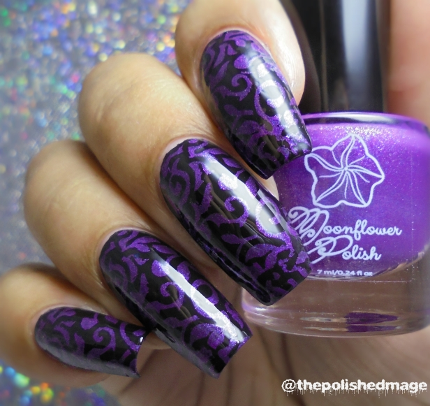 moonflower polish orquideas stamp 2