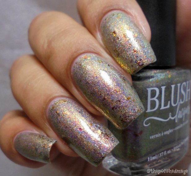 blush lacquers frosted foliage