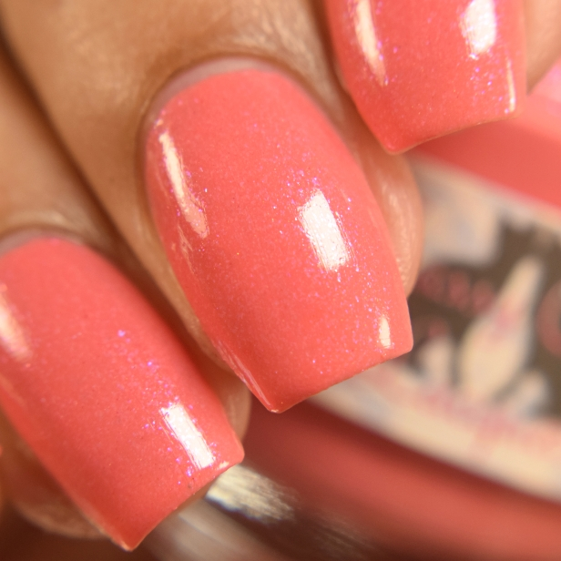 sassy cats lacquer coralicious peeps 3
