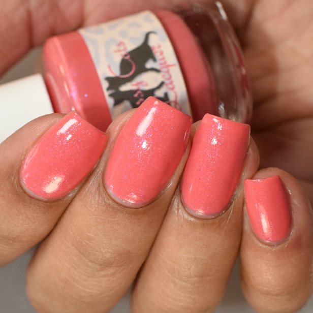 sassy cats lacquer coralicious peeps 5