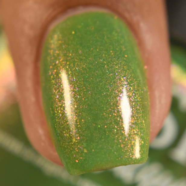 blush lacquers green with envy