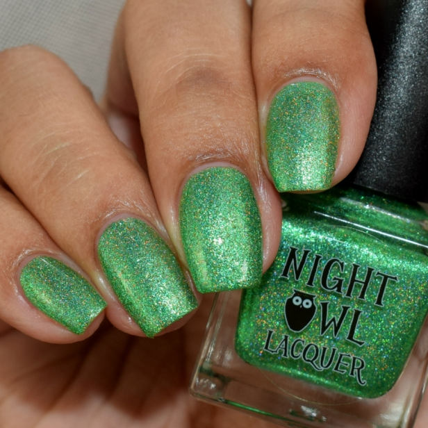night owl green metallic holo 3
