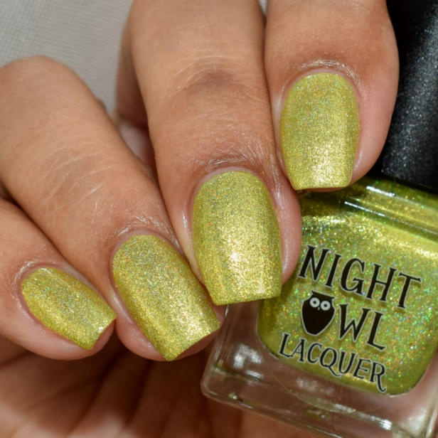 night owl yellow metallic holo 3